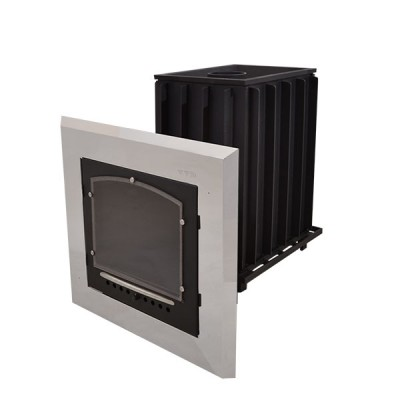 Печь для бани чугунная ИнжКомЦентр Калита  дверца стальная окрашеная