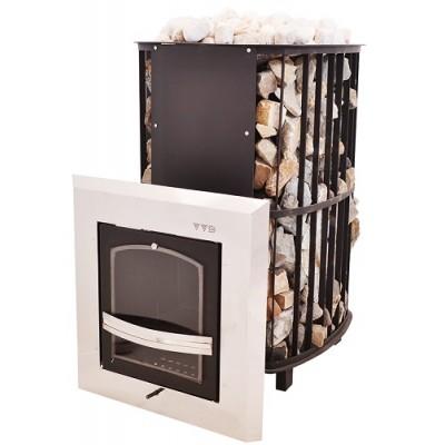 Печь ИнжКомЦентр ВВД Сударушка Руса дверца чугунная с панорамным стеклом