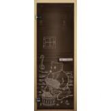 Дверь для бани LK бронза Мишка 1900*700 коробка хвоя