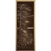 Дверь для бани LK бронза матовая Тайга 1900*700 коробка хвоя