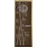Дверь для бани LK бронза Бамбук 1900*700 коробка хвоя