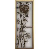Дверь для бани LK сатин матовая Бамбук 1900*700 коробка хвоя