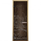 Дверь для бани LK бронза Банька 1900*700 коробка хвоя