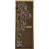 Дверь для бани LK бронза Березка 1900*700 коробка хвоя