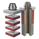 Комплект UNI FINAL базовый высотой 1м для отделки одноходовой дымоходной системы c вентиляционным каналом Schiedel UNI20L  над кровлей (готовое решение)