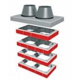 Комплект UNI FINAL базовый высотой 1м для отделки двухходовой дымоходной системы Schiedel UNI14-18 над кровлей (готовое решение)