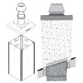 Комплект UraTOP базовый высотой 1,5м для отделки дымоходной одноходовой с вентиляционным каналом системы Schiedel UNI 20L над кровлей (готовое решение)
