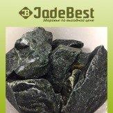 Нефрит обвалованный для бани и сауны, 1 кг в пластиковом ведре
