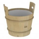 Запарник для сауны и бани Sawo без крышки 381-P из сосны с пластмассовой вставкой, объем 18л