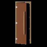 Дверь для бани и сауны Sawo 741-3SGA-L-1 стекло бронза, коробка осина, без порога, левая, ручка вертикальная 558
