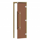 Дверь для бани и сауны Sawo 741-3SGA-R-3 стекло бронза, коробка осина, без порога, правая, ручка вертикальная