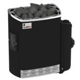 Электрическая печь SAWO Dragonfire, Mini Dragon MN-36NB-DRF-BL-P (3,6 кВт, встроенный пульт, нержавейка)