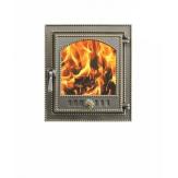 Дверка каминная со стеклом Везувий 210 цвет бронза