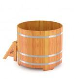 Купель для бани Bentwood  круглая, диаметр 1,17м высота 1,1 м из лиственницы натуральной