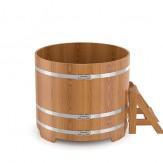 Купель для бани Bentwood круглая  в уличном исполнении диаметр 2.0м высота 1м из дуба натурального