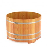 Купель для бани Bentwood круглая, диаметр 1,5 м высота 1,2 м из лиственницы натуральной