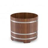 Купель для бани Bentwood круглая диаметр 1,17м высота 1,1м из лиственницы мореной