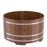 Купель для бани Bentwood круглая,  диаметр 1,8 м высота 1,2 м из лиственницы мореной