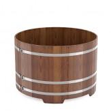 Купель для бани Bentwood круглая из лиственницы мореной  диаметр 1,5 м высота 1,2 м