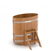 Купель для бани Bentwood овальная 0,59х1,06х1,0м из дуба натурального