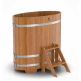Купель для бани Bentwood овальная 0,69х1,31х1,2 м из дуба натурального