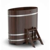 Купель для бани  Bentwood овальная 0,95*1,60*1,0 м из лиственницы мореной