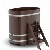 Купель для бани Bentwood овальная 0,76х1,16х1,2 м из дуба мореного
