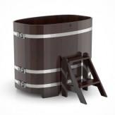 Купель для бани  Bentwood овальная 1,15*1,83*1,1 м из дуба мореного