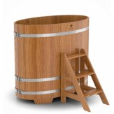 Купель для бани Bentwood овальная 0,80х1,42х1,2 м из дуба натурального