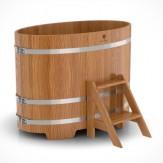 Купель для бани Bentwood овальная 0,80х1,42х1,0м из дуба натурального