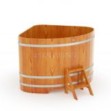 Купель BentWood угловая из лиственницы 1,53*1,53 h=1,0 м