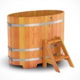 Купель для бани Bentwood овальная 0,80х1,42х1,0м из лиственницы
