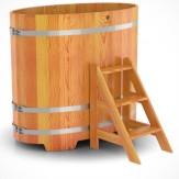 Купель для бани Bentwood овальная 0,80х1,42х1,2 м из лиственницы