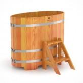 Купель для бани Bentwood овальная 0,69х1,31х1,0м из лиственницы