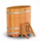 Купель для бани  Bentwood овальная 1,08*1,75*1,1 м из лиственницы