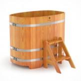 Купель для бани Bentwood овальная 0,76х1,16х1,0м из лиственницы