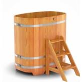 Купель для бани Bentwood овальная 0,76х1,16х1,2 м из лиственницы