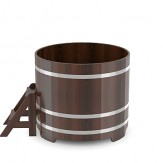Купель для бани Bentwood круглая  диаметр 1,17м высота 1,4м из дуба мореного