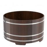 Купель для бани Bentwood круглая, диаметр 1,8 м высота 1,4 м из дуба мореного