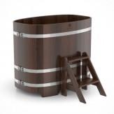 Купель для бани Bentwood овальная 0,76х1,16х1,0м из дуба мореного