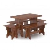 Комплект мебели для бани Bentwood из лиственницы мореной на 6человек