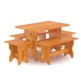 Комплект мебели для бани Bentwood из лиственницы на 6 человек
