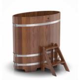 Купель для бани Bentwood овальная 0,69х1,31х1,2 м из лиственницы мореной