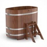 Купель для бани BENTWOOD овальная 0,76х1,16х1,0м из лиственницы мореной