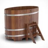 Купель для бани Bentwood овальная 0,80х1,42х1,0м из лиственницы мореной