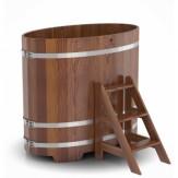 Купель для бани Bentwood овальная 0,80х1,42х1,2 м из лиственницы мореной