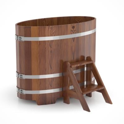 Купель для бани Bentwood овальная 0,69х1,31х1,0м из лиственницы мореной