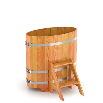 Купель для бани Bentwood овальная 0,59х1,06х1,0 м из лиственницы