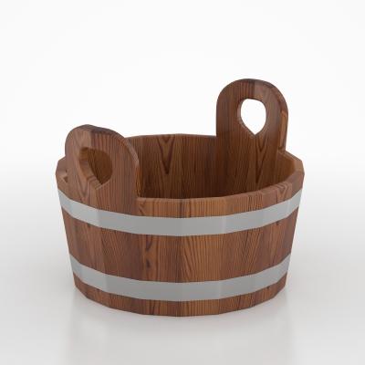 Шайка для бани  BentWood из лиственницы мореной с двухсторонним полимерным покрытием
