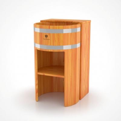 Умывальник деревянный Bentwood из лиственницы стойка прямая